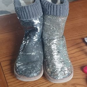 VS PINK sequin slipper boot